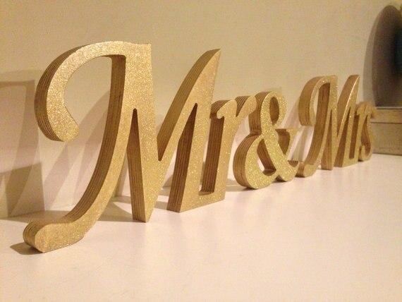 Envío Gratis Glitter Mr & Mrs Boda Letras. El Señor Y La