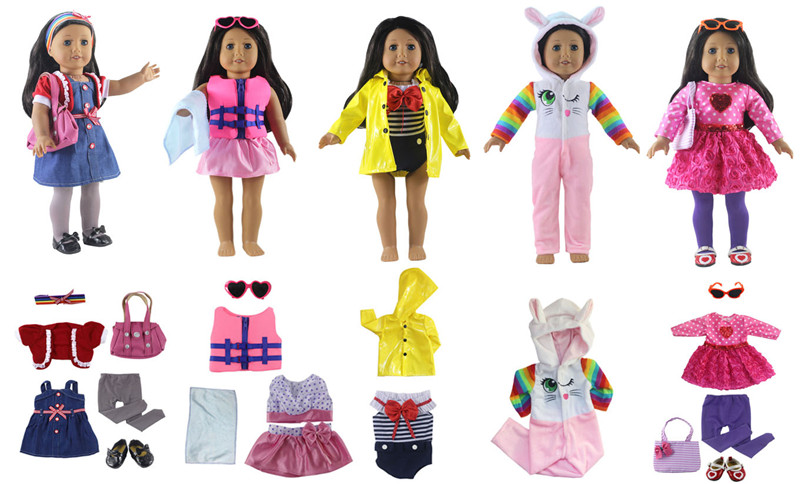 5set Cute Handmade Clothes Dress For Mini Kelly Mini Chelsea Doll Outfit M Ty