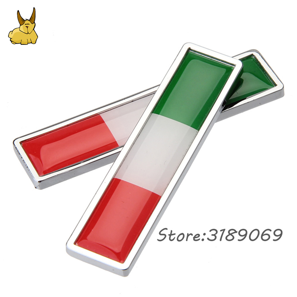 Car decoration decal side door sticker for italian flag logo vw polo golf ford fiesta fiat 500 500x punto panda lancia ypslion