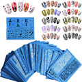 Fashion 3D 48 Sheets Flower Lace Nail Art Water Transfer Decals Stickers Tips Decoration Beauty Nail Sticker