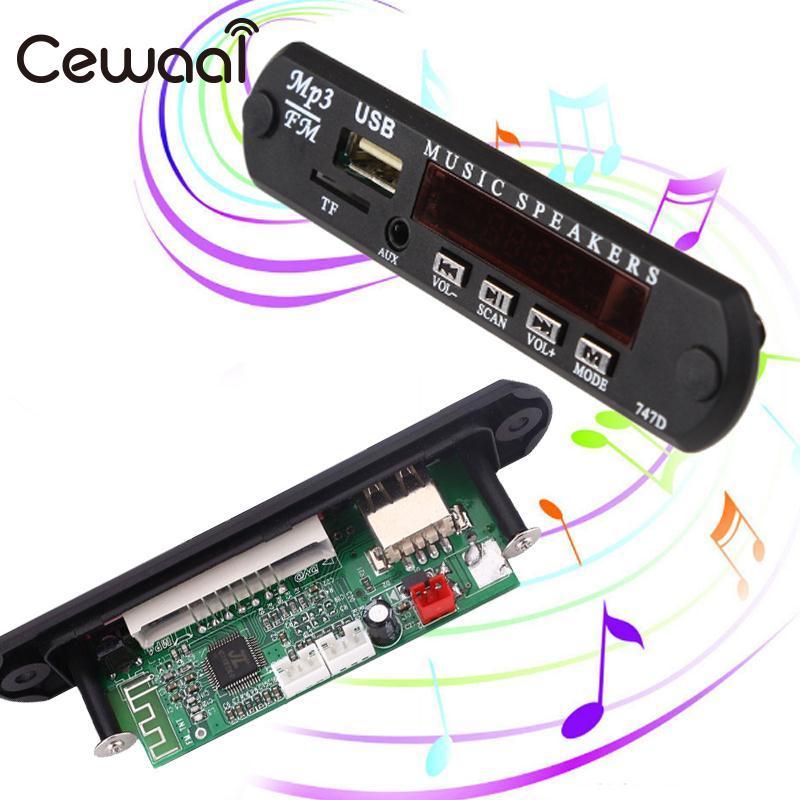 Cewaal DC5V Car Vehicles MP3 WMA Decoder Board Audio Module USB FM TF Radio For Car MP3 Accessories wireless bluetooth 12v mp3 wma decoder board audio module usb tf radio for car