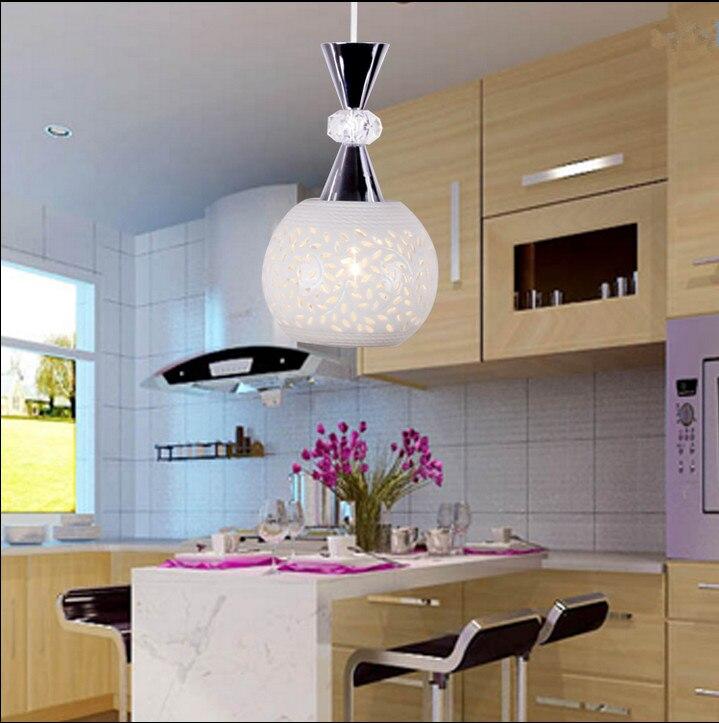 ФОТО Minimalist creative hollow crystal ceramics pendant lights Europe fashion purely spherical single lamp for bar garden stairs