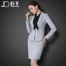 New Arrival Small Fragrant Wind Women's Long Sleeve Suit Blazer Jacket Short pencil Skirt Twinset Skirt Ladies Career Work Suits