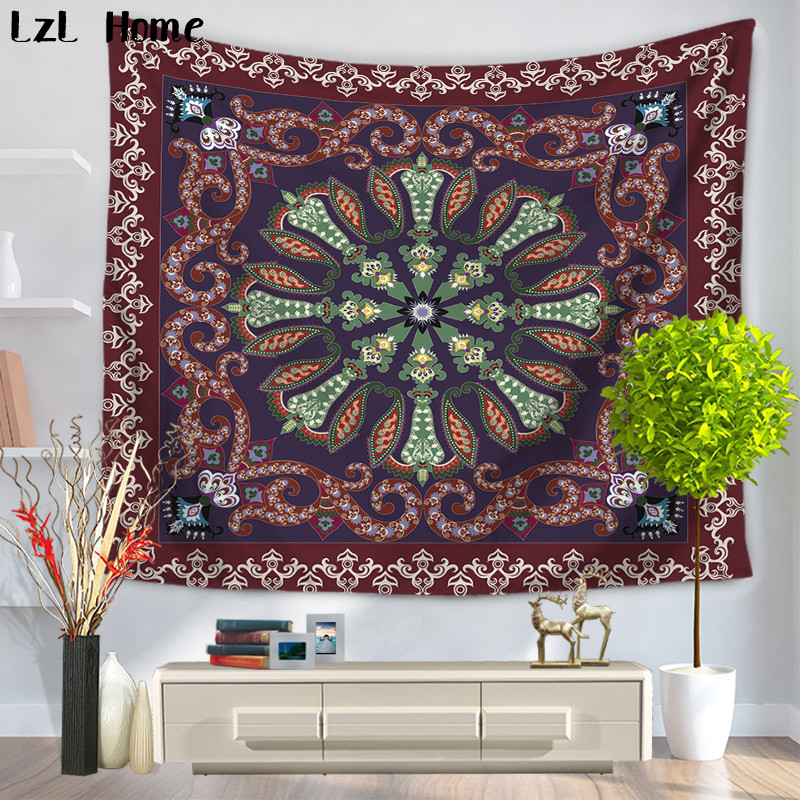 Cute Printed Hippie Tapestry Beach Outdoor Throw Towel Yoga Mat Wall Hanging