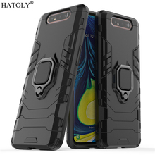 For Samsung Galaxy A90 Case Cover for Finger Ring Hard PC Phone Armor Back
