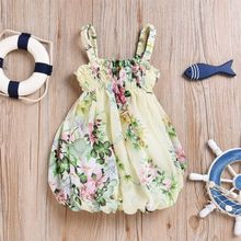 Cute Newborn Kids Summer Princess Girls Suspenders Tulle Dress Floral Fluffy Baby Girls Party Gown Formal Dresses