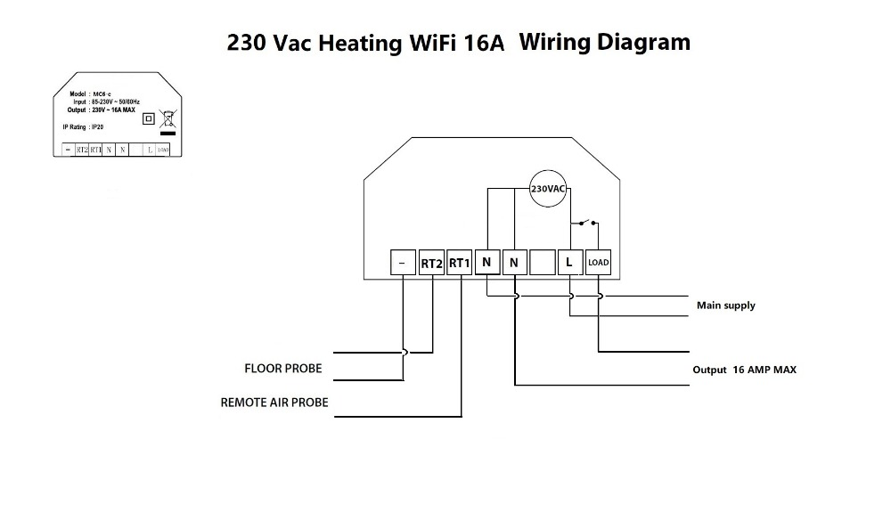 Wifi farbe touchscreen thermostat für electrlc heizung 16A mit ...