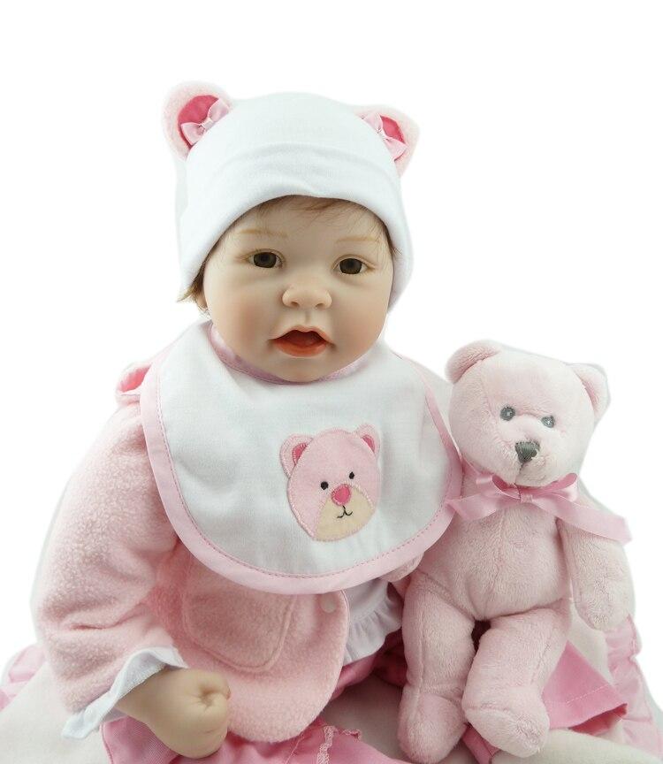 55 centimetri boneca reborn silicone bambole del bambino rinato com corpo de silicone menina bambole del bambino regalo di compleanno per bambini bebe reborn-in Bambole da Giocattoli e hobby su  Gruppo 3