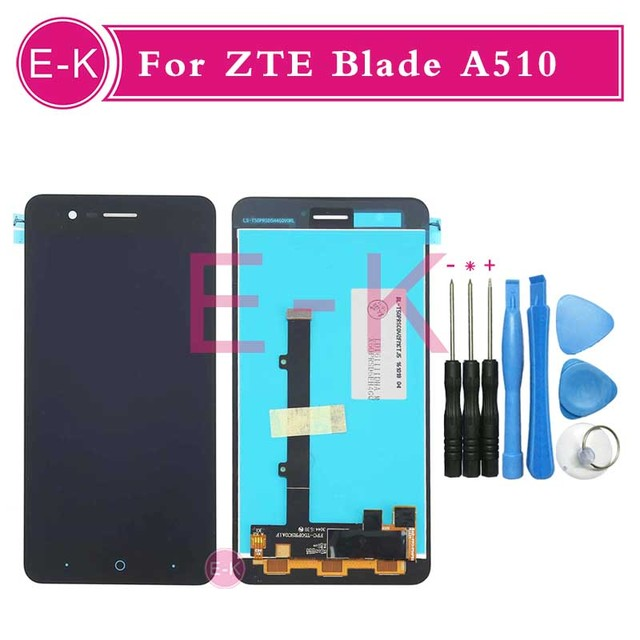 """High quality 5.0"""" For ZTE Blade A510 LCD Display + Touch Screen Digitizer Assembly Replacement + Tools Free Shipping"""