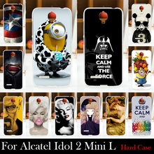 For Alcatel One Touch Idol 2 Mini L 6014 6014D 6014X Hard Plastic Mobile Phone Cover