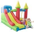 Yard envío libre de dhl colorido castillo hinchable con tobogán gorila inflable con ventilador para niños