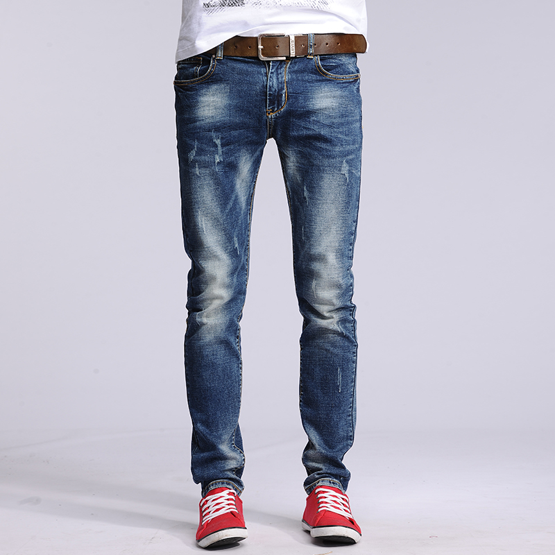 New Fashion Man Denim Jeans Pencil Slim Pants Classic Skinny Jeans Male Elastic Trousers YZ6611