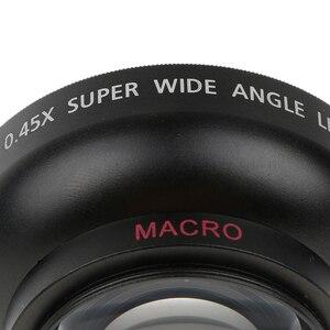Image 4 - 43mm 0.45x geniş açı Lens makro Canon Nikon Sony Pentax için 52 Mm konu DSLR kamera