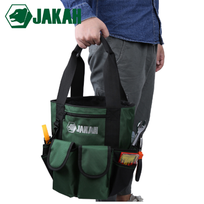 JAKAH Electric Bucket Tool Bag Portable Toolkit  Home Garden Hardware Tool Organizer Bags