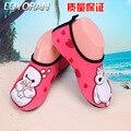 Crianças sandálias com os pés descalços dos homens e mulheres shoes sports natação água cole pele macia shoes vadeando shoes 22-40