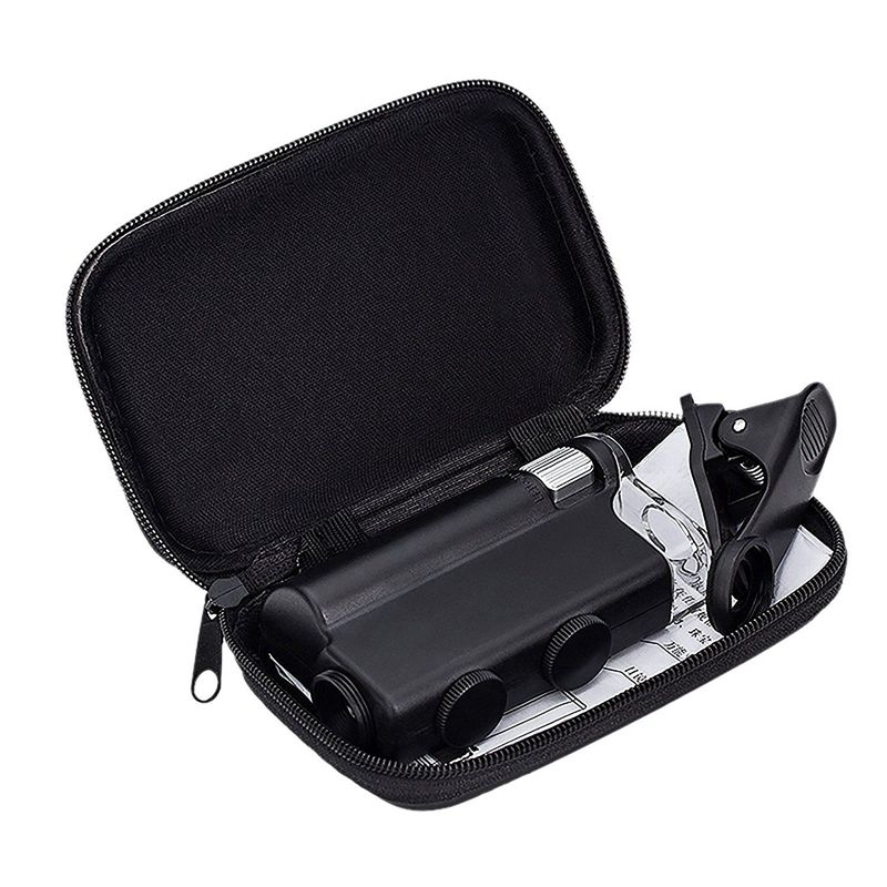 60X-100X Zoom Mikroskop Lupe LED + Uv-Licht Clip-on Micro objektiv für Handy IPhone 8 7 6 6 s Sangsung w/Geschenk Tasche