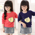 2016 Spring brand girls boy long sleeve t shirts  Cotton Fish Fashion children sweatshirt  Tracksuit  baby kids tops