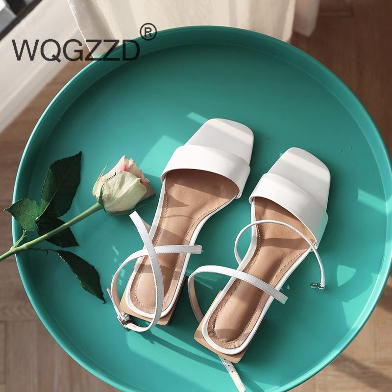 Élégant Hauts brown white De Sandales Talons Simple En Chaussures Véritable Femme À Mujer Cuir Et Black Spartiates Femmes rCxoeBQdW