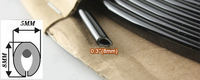 Black U Style Silver U Style Rubber Edge Trim Seal Noise Insulation Sound Proofing Silencer Rear