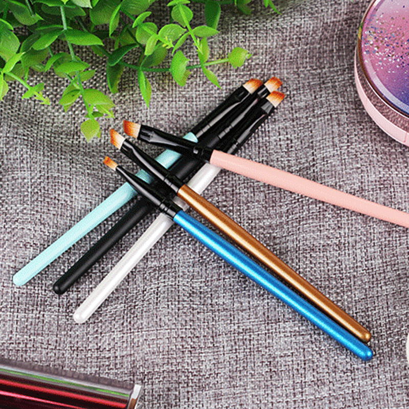 Bagged Eyebrow-Brush Single 7-Color Beginner's Long-Rod Oblique