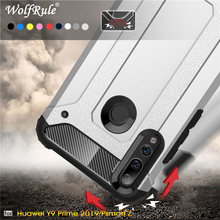 Case Huawei Y9 Prime 2019 Full Wrapped Armor Hybrid PC+TPU For Cover Y6 Coque 6.59