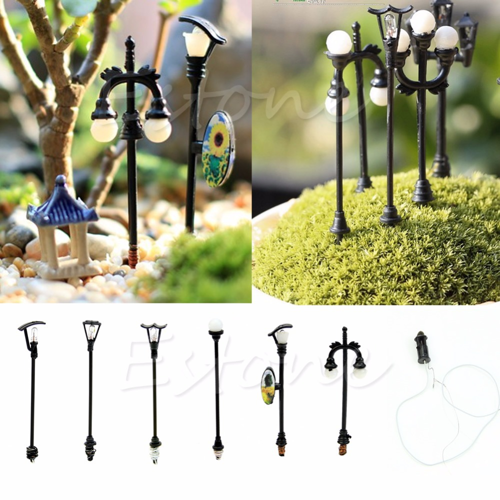 mini farolas de jardn en miniatura artesanas ornamento mini luz de la calle para macetas de