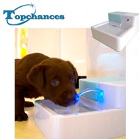 High Quality 1 8L LED AUTOMATIC CAT DOG BIRD KITTEN WATER DRINKING FOUNTAIN PET BOWL DRINK