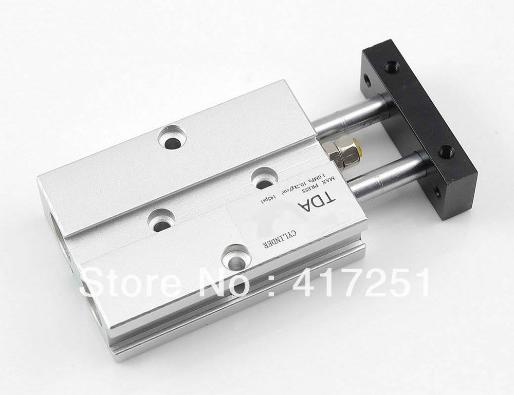 Cylinder TDA 20-40 Compact Type Dual Rod Cylinder Double Acting 20-40mm Accept custom airtac type cylinder sda 40 40 compact cylinder double acting 40 40mm accept custom