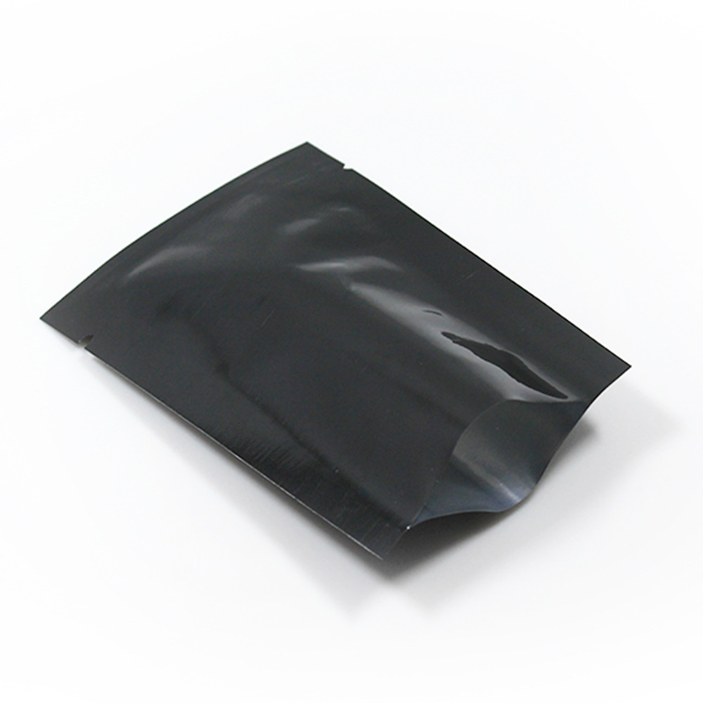DHL Open Top Pure Aluminum Foil Package Bag Vacuum Black Pouches Snack Food Storage Heat Sealing Mylar Foil Glossy Flat Pack BagDHL Open Top Pure Aluminum Foil Package Bag Vacuum Black Pouches Snack Food Storage Heat Sealing Mylar Foil Glossy Flat Pack Bag