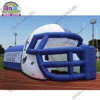 Заводская цена надувные футбольные туннель, индивидуальные надувные шлем для спортивных мероприятий