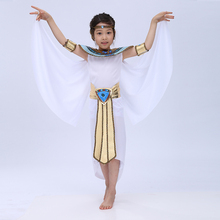 Free shipping 2016 new  Children Halloween Cosplay Masquerade queen Cleopatra costume for girls Princess costume
