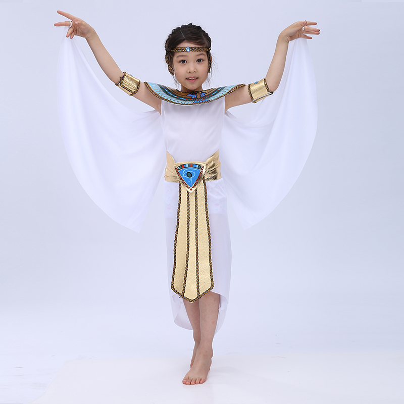 Free shipping 2016 new Children Halloween Cosplay Masquerade queen Cleopatra costume for girls Princess costume image