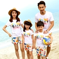 Free Shipping summer family look sets Fashion BABY mother daughter father Son Boys Girls family  T shirts + Pants Outfits