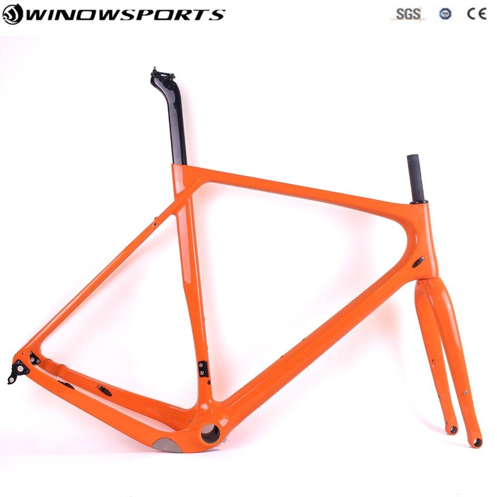 2019 Popular Carbon Gravel Bike Frame Full Carbon Road Bike Frame, Gravel Carbon Bicycle Frame Disc Frame With Thru Axle 142*12