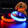 Alta Qualidade Prático pet cinto de tração da corda de tração coleira de cachorro colar fluorescente luminosa luminosa andando