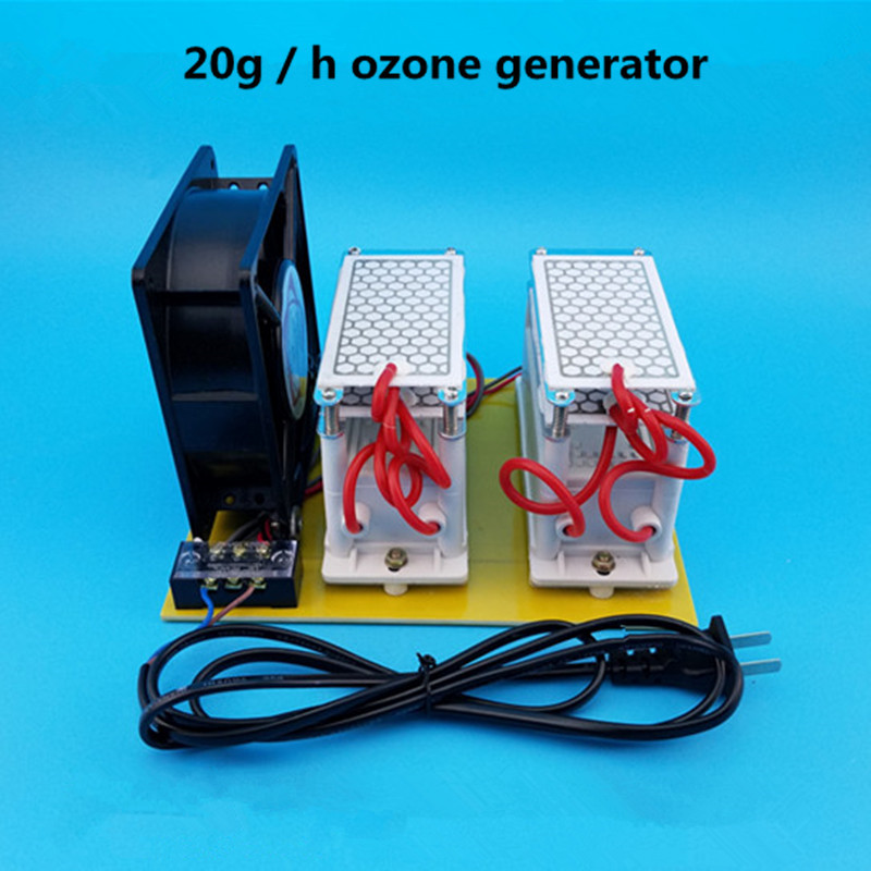 20g/h Ozone Generator Double Plate Ozonizer Water Disinfection Treatment Air Purifier Air Water Generator