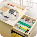 1pc Organizer Trays Home Office Storage Kitchen Bathroom Closet Desk Box Flexible Organization Tray Cutlery Cosmetics Stationery