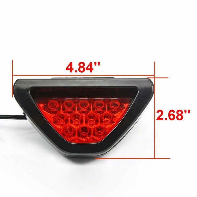 Auto-styling F1 Stijl 12 LED Rood Achterlicht Derde Remlicht Lampen LED HID FOUT GRATIS Auto Side wedge Light auto styling 18Jul 27