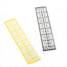 1Pc Acrylic Measuring Drawing DIY Sewing Ruler 15cm*3cm Black Yellow Stitching Patchwork Tools New Arrivals