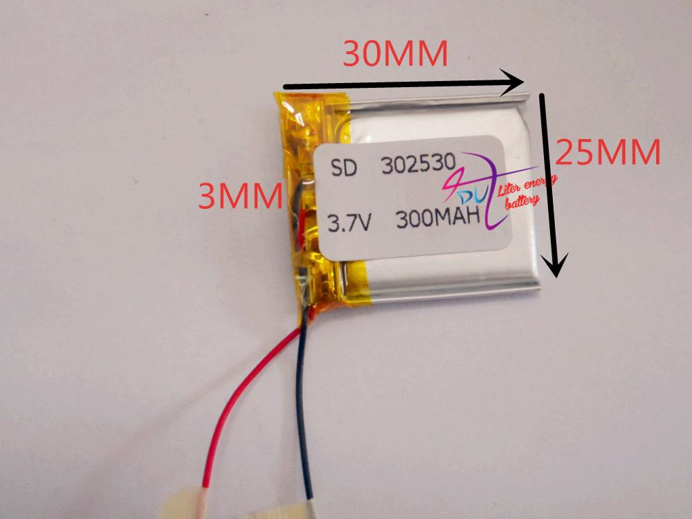 best battery brand Size <font><b>302530</b></font> 3.7V 300mah Lithium polymer Battery with Protection Board For MP4 PSP Digital Products Free Shipp image