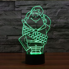 Creative 3D Led Table Lamp 7 Color Changing Usb Cartoon Character Bedroom Office Decor Lighting Night Lights Child Holiday Gifts(China)