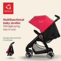 Bebear Luxury Baby Stroller Steering Wheel Car Portable Lightweight Travel Carriage Foldable Lay Down Umbrella Pram Stroller