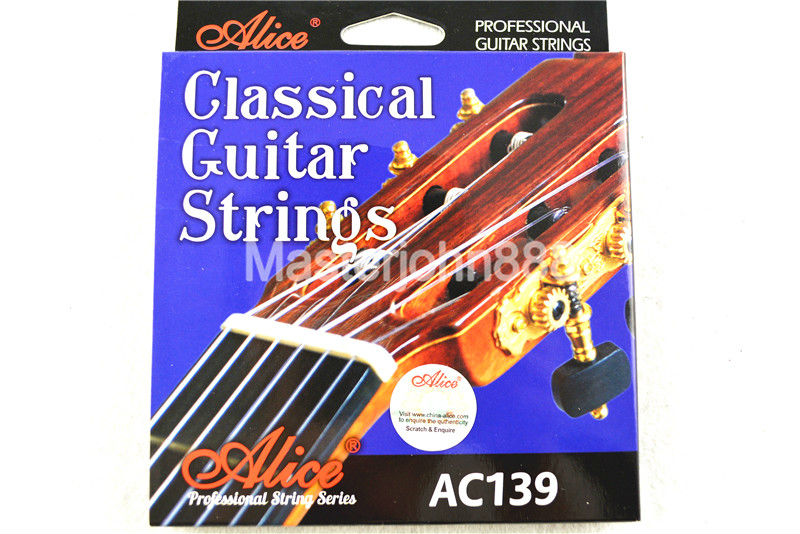 Alice AC139-H Classical Guitar Strings Titanium Nylon&Silver-Plated 85/15 Bronze Wound 1st-6th Strings Wholesales Free Shippng