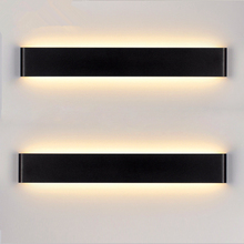 Modern 4W 6W 14W 20W Aluminum Black/White LED Sconce Indoor Wall Lamps Brief Bedroom Decoration Lighting Fixtures Wall 100-240V