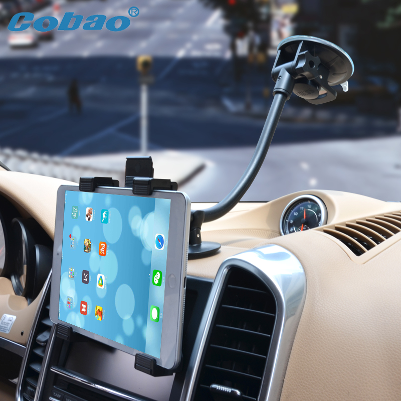 Cobao 7 8 9 9.7 10 11 inch tablet pc stand long arm tablet car holder for Ipad 2 3 4 ipad air 9.7 Ipad Pro samsung asus support universal 9 5 10 11 to 14 5 inch tablet pc stand stong suction tablet car holder for ipad 2 3 4 ipad air 9 7 12 9 inch ipad pro