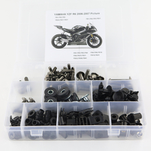 купить For Yamaha YZF R6 YZFR6 YZF-R6 2006 2007 Full Fairing Bolts Kit Motorcycle Fairing Clips Speed Nuts Side Covering Bolts Steel дешево