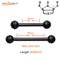 2pcs High Quality 50mm 80mm Ball Joint Arm Camera Tray Holder Bracket For Underwater Scuba Diving