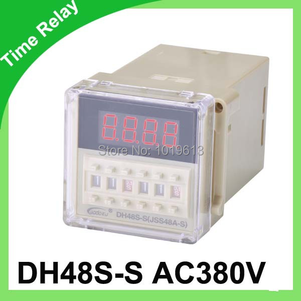 DH48S-S AC 380v Cycle timer relay with socket zys48 s dh48s s ac 220v repeat cycle dpdt time delay relay timer counter with socket base 220vac