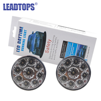 LEADTOPS 2PCS Car DRL LED Daytime Running Light Car Fog Light Lamp High Power Led Bulb