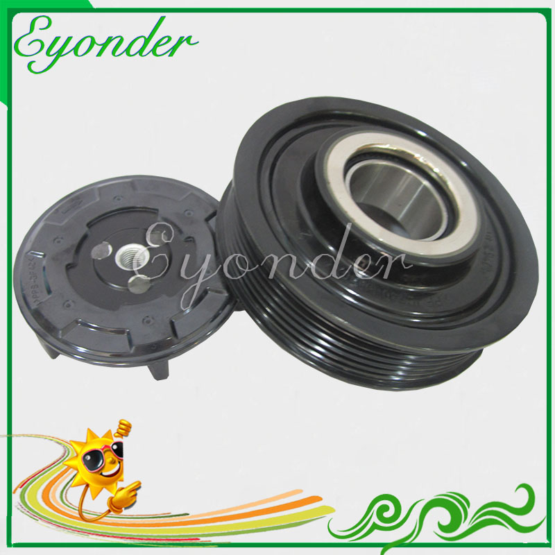 AC A C Air Conditioning Compressor Electromagnetic Magnetic Clutch Pulley Set for Denso for Volkswagen VW